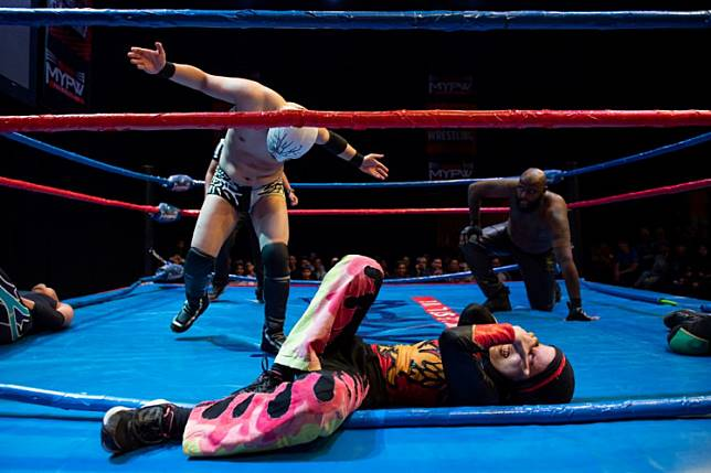 This picture taken on July 6, 2019 shows the hijab-wearing Malaysian wrestler known as Nor
