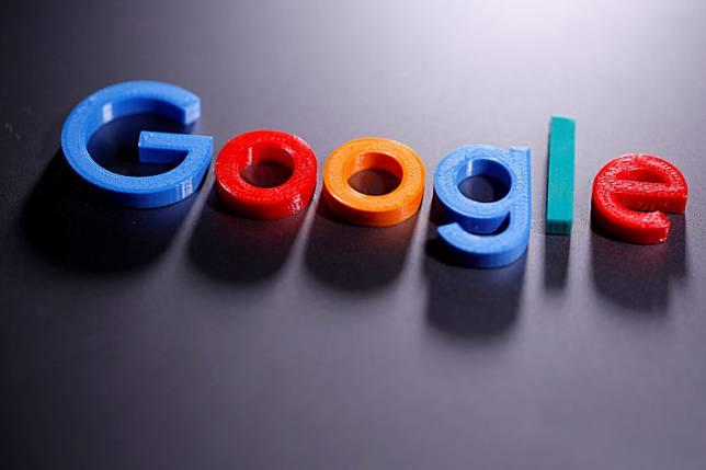 A 3D printed Google logo in illustration taken on April 12, 2020.