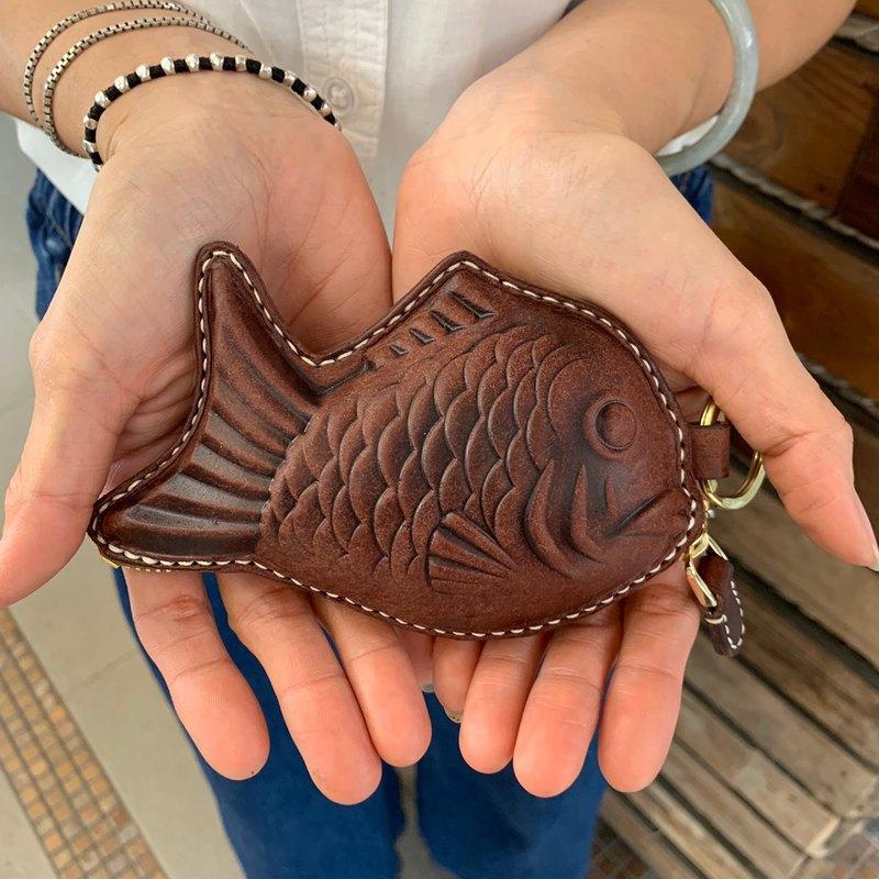雕魚燒 造型零錢包 皮革手作 擬真雕魚