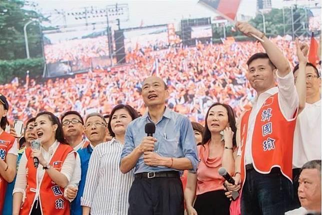 國民黨總統參選人韓國瑜(前中)。(中時資料照片)