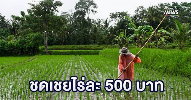 เตรียมจ่ายเงินเยียวยาเกษตรกรน้ำท่วม-ภัยแล้งไร่ละ 500 บาท