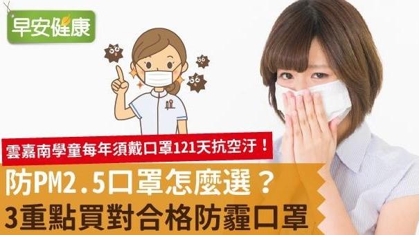 防PM2.5口罩怎麼選?3重點買對合格防霾口罩