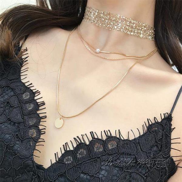 性感項鏈女潮網紅鎖骨鏈簡約氣質項圈脖子飾品短款頸帶頸鏈裝配飾 後街五號