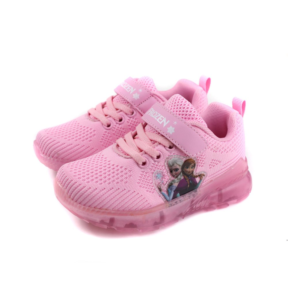 Disney Frozen 迪士尼 冰雪奇緣 運動鞋 電燈鞋 童鞋 粉紅色 中童 FOKX94463 no671