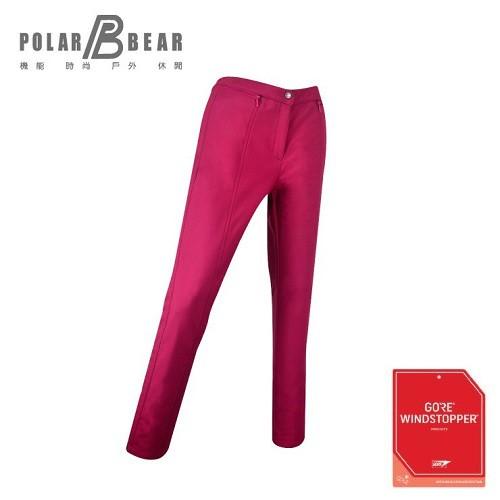 【16P34女WS煙管長褲】商品特點:1.GORE-WINDSTOPPER SOFTSHELL 系列,三層內貼厚刷毛,防風、保暖、透氣、舒適。2.窄管褲版型,腰間有鬆緊帶設計。3.前腰下有剪接緞面布拉
