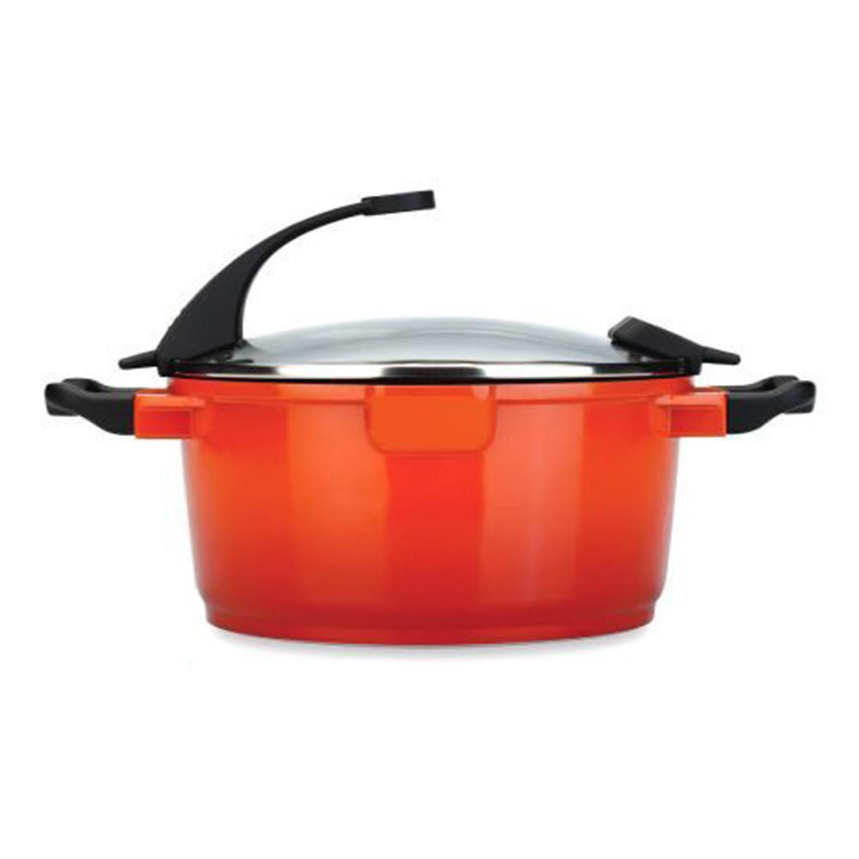 來自比利時的,集美觀、實用、創意於一身的好鍋具。鋁合金鑄造,導熱均勻且快速,具備絕佳保溫效果。Ferno Green 自然環保塗層,不黏鍋、好清洗。不含鉛鎘、PFOA、PTFE 等有毒物質。貼心小巧思