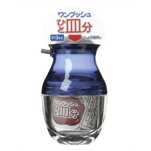 日本餐館專用 (日本製)桌上用ONE PUSH可滴式醬油瓶 紅/藍