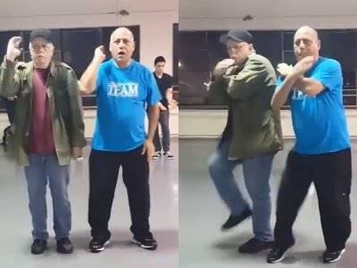 Tak Kalah dengan Anak Muda, Kedua Kakek Ini Tunjukkan Skill Dance Unik