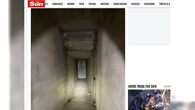 美國男子買下有87年歷史的老房,結果意外發現1條隧道。(圖/翻攝自太陽報)