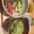 かつおのポキごはん - 実際訪問したユーザーが直接撮影して投稿した新宿丼ものマルモキッチン ルミネエスト新宿店の写真のメニュー情報