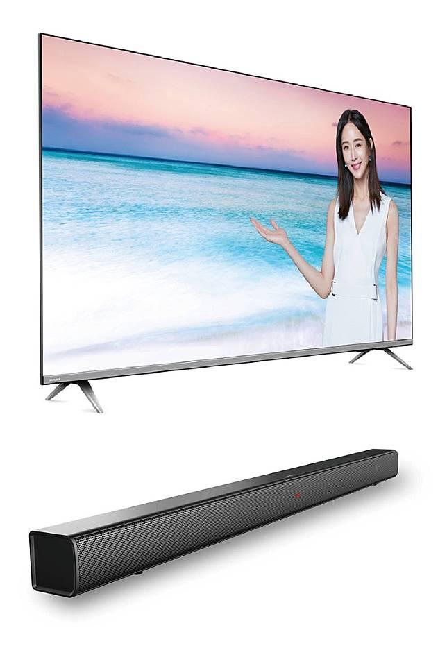 Philips推出58吋4K智能電視58PUD6654,跟機附送同廠SoundBar HTL1508,限售4套。(攤位:L29、L30、L31~L34)(互聯網)