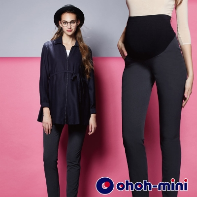 ohoh-mini 孕婦裝 都會經典小直筒孕婦褲-2色