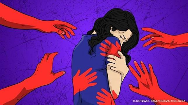 Ilustrasi kekerasan seksual, pelecehan seksual - (Suara.com/Ema Rohimah)