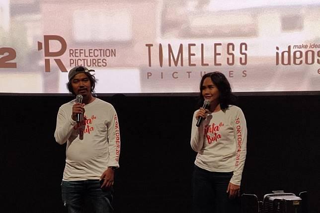 Image result for press screening film cinta itu buta