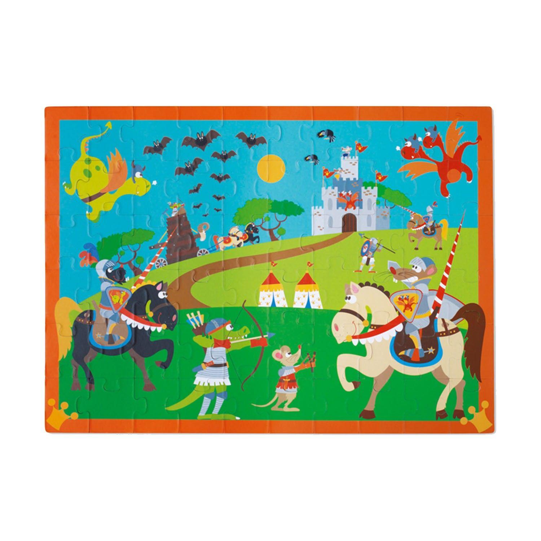 比利時 Scratch - 豪華拼圖-英勇騎士-60片