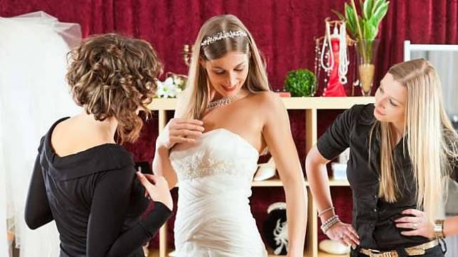 Ilustrasi gaun pengantin. [shutterstock]