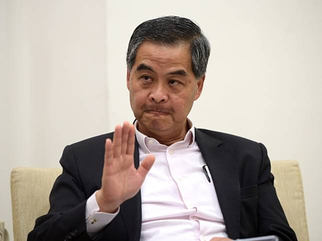 梁振英指《逃犯條例》修訂重創香港在國外聲譽。資料圖片