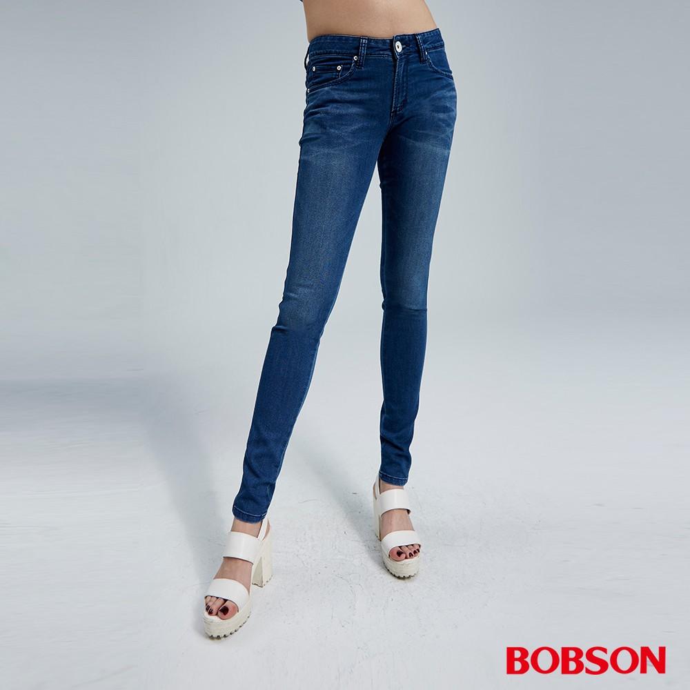 BOBSON 女款優質觸感緊身牛仔褲(8070-53)