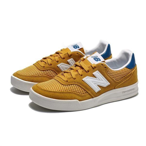 ISNEAKERS NEW BALANCE CRT300 土黃藍 復古 麂皮 網布 板鞋 女 CRT300B2