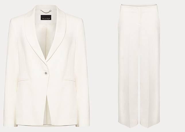 Cadie白色西裝套裝(互聯網)