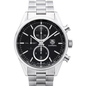 不鏽鋼錶殼、錶帶可欣賞機芯運作透明底蓋自動計時碼錶藍寶石水晶鏡面型號:CAR2110.BA0720
