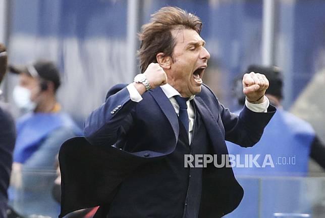 Pelatih kepala Inter Milan Antonio Conte.