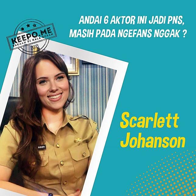 Bakal pada rajin masuk kantor nih kalo ada pegawai macem Scarlett Johanson