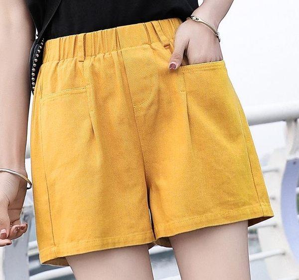 短褲女夏季2019新款薄款韓版高腰大碼闊腿休閒寬鬆三分熱褲女大碼