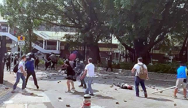 上水磚頭擊斃清潔工案,警方拘捕5涉案人士。影片截圖