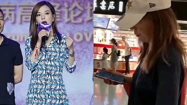 ▲趙薇在機場被粉絲捕獲,她的反應掀起兩派網友議論。(圖/微博)