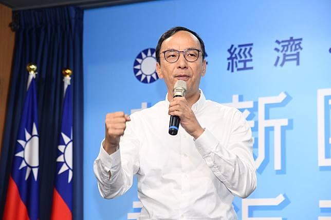 韓國瑜競選總部主委、前國民黨主席朱立倫。(圖 / 記者林柏年攝)