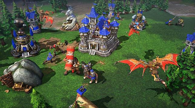 Tampilan grafis game Warcraft III: Reforged.