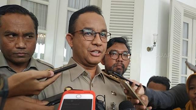 Gubernur DKI Jakarta Anies Baswedan. (Suara.com/Fakhri Fuadi)