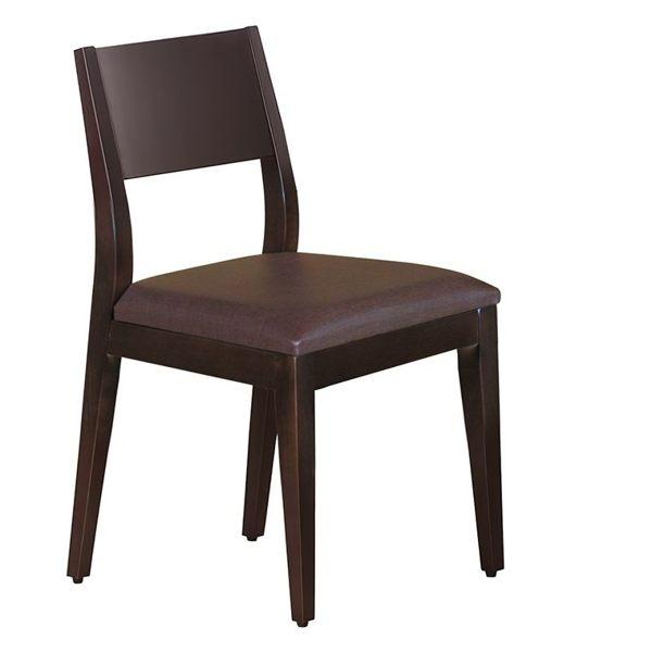 OB004-喬伊胡桃咖啡亞麻紋皮餐椅(19HY2/B471-03)【DD House】