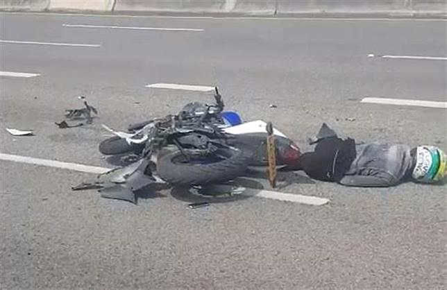 重機騎士違規上國道   撞油罐車慘死車道