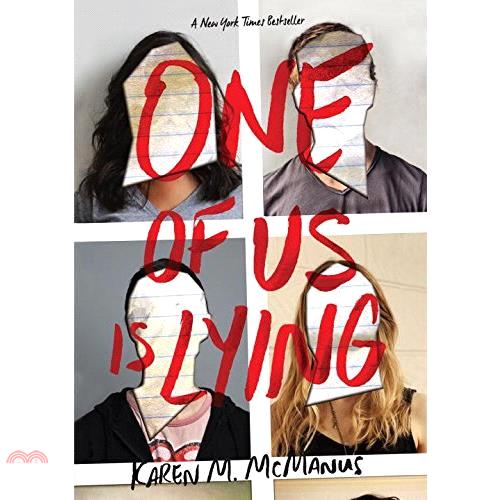 書名:One of Us is Lying (平裝本)(美國版)定價:350元ISBN13:9781524764722出版社:Delacorte Pr作者:Karen M. McManus裝訂/頁數: