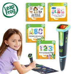 ◎LeapStart完整學習系統|◎互動書籍超過200個重點技巧|◎動畫角色幫助幼兒做好學前準備商品名稱:【LeapFrog】迪士尼全英文點讀學習系列點讀Go學習筆(綠色)+4書(幼兒23914))種