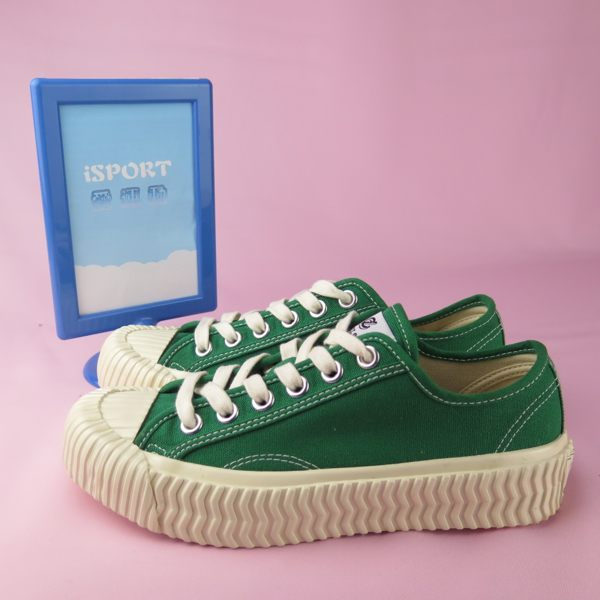 【iSport愛運動】EXCELSIOR 正韓代購 低筒帆布鞋 餅乾鞋 正品 DSM6017CVGR 綠 女款