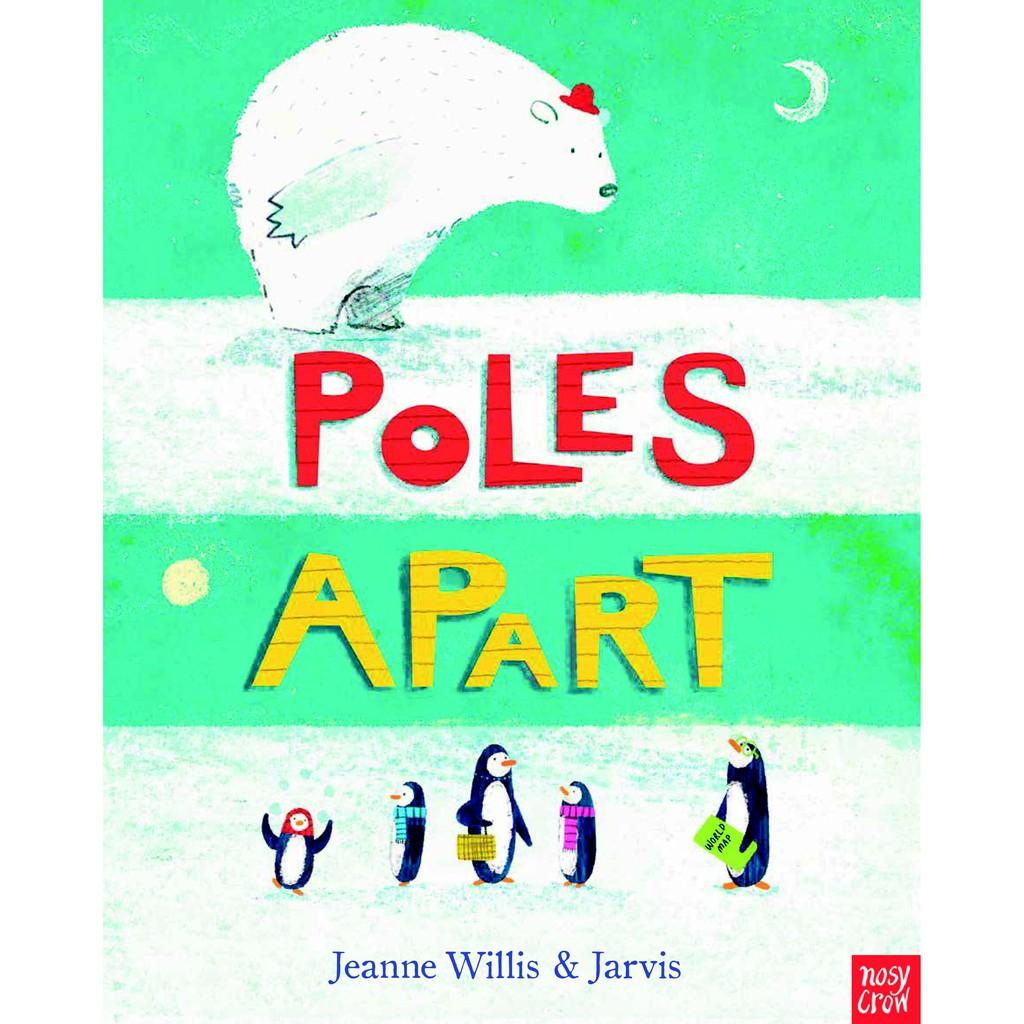 【麥克書店】POLES APART|英文故事繪本住在南極的皮查.布朗企鵝一家,準備出門到南極野餐布朗先生帶著地圖出發布朗先生:「看到雪人就右轉,就會到了!!」咦!布朗先生手上的地圖……怎麼看反了!企鵝