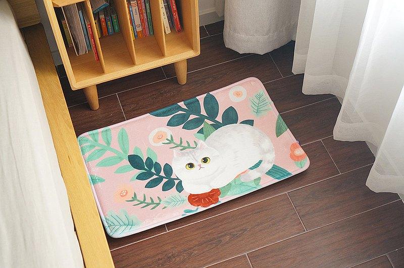 MEWJI妙吉原創可愛貓咪植物房間房門浴室廚房地毯地墊腳墊英短款