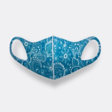 LeMASKA 防曬防臭 韓國時尚口罩 _ 圖騰藍 韓星最愛 可重複使用