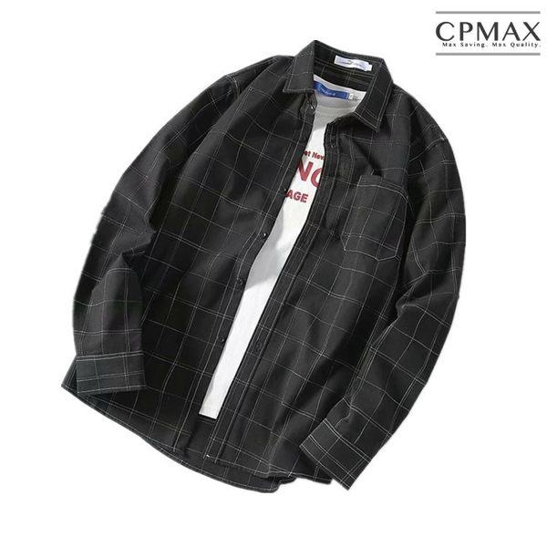 CPMAX 百搭免燙格子襯衫 長袖襯衫 格子襯衫 男生襯衫 韓系襯衫 上班襯衫 男襯衫 舒適襯衫 B54