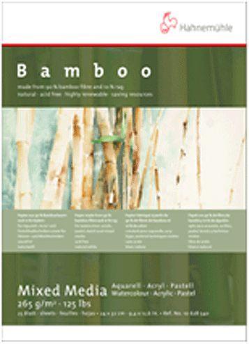德國Hahnemühle Bamboo-mixed media 竹纖維水彩紙*106 285 40