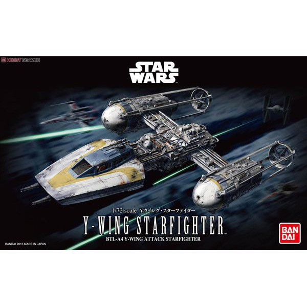 玩具e哥 組裝模型 1/72 STAR WARS 星際大戰 Y翼星際戰機