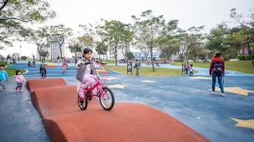 【立言公園】最美的學滑步車.腳踏車練習場景點推薦