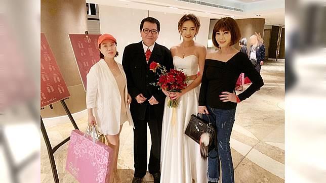 陳美鳳(右)20日出席王夢麟女兒歸寧宴。圖/翻攝陳美鳳 MeiFen臉書