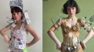19歲俄羅斯玩味藝術家,用撲克牌、衛生紙為Marc Jacobs穿出時尚