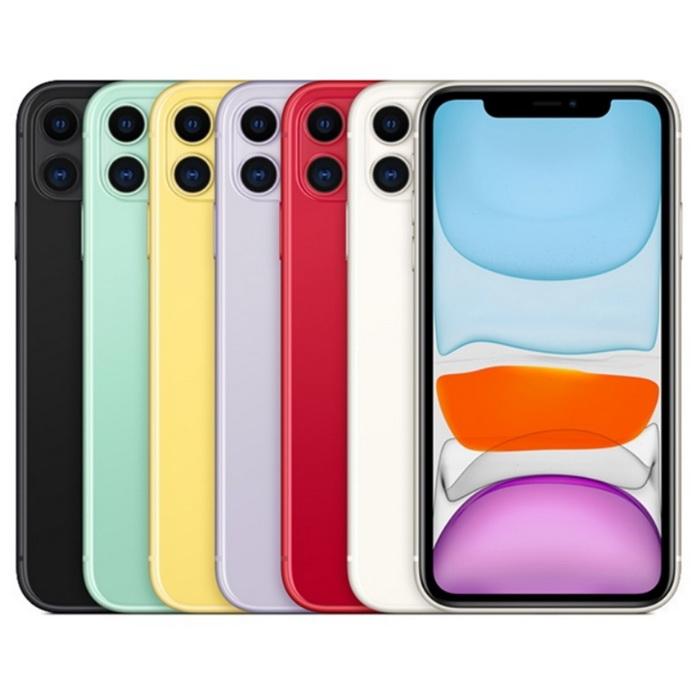 Apple iPhone 11 128G 6.1吋空機 加贈玻璃保護貼黑色
