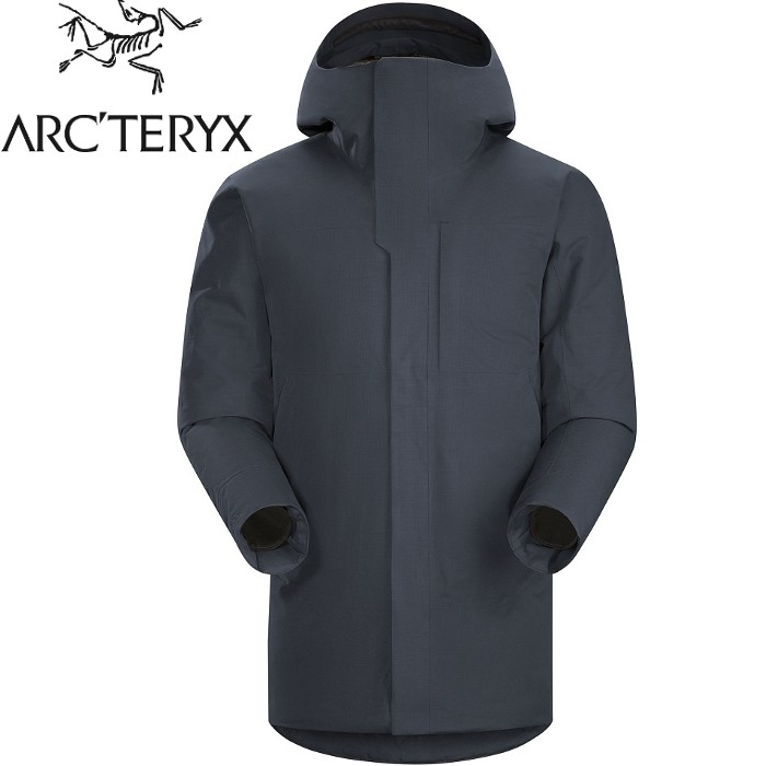 Arcteryx 始祖鳥 Therme 雪衣/防水大衣/羽絨衣/出國旅遊 男GTX羽絨/化纖複合12888 夜鷹藍