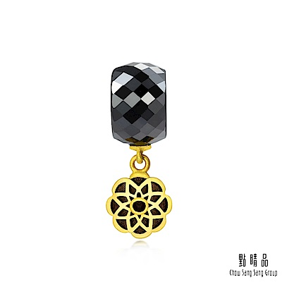 充滿神秘色彩的曼陀羅墜飾,與黑色陶瓷優雅配合,象徵高貴穩重。